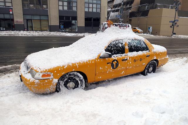 Taxi en la nieve