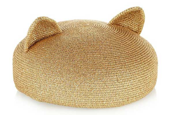 Sombreros para el verano: Eugenia Kim Caterina metallic woven (golden)