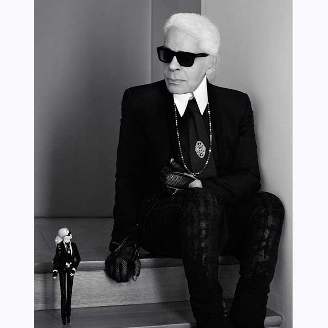 Barbie se transforma en Karl Lagerfeld