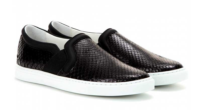 Lanvin-Python-leather-slip-on-sneakers--STANDARD