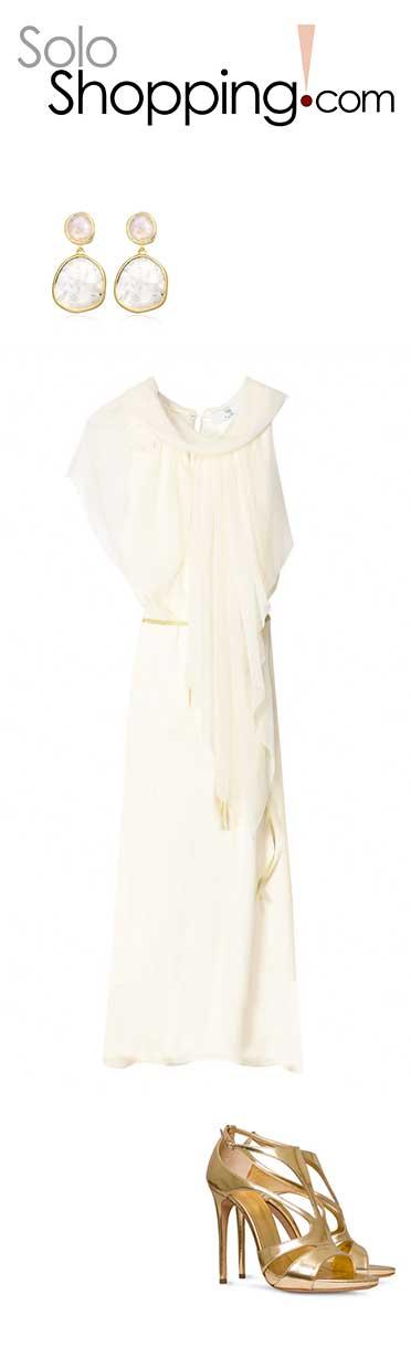 Vestido de boda de rebajas, look completo sin arruinarte