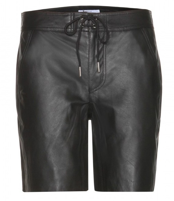 T-by-Alexander-Wang-Leather-shorts