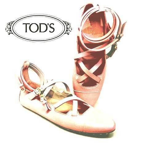 TOD'S Bailarinas con tiras