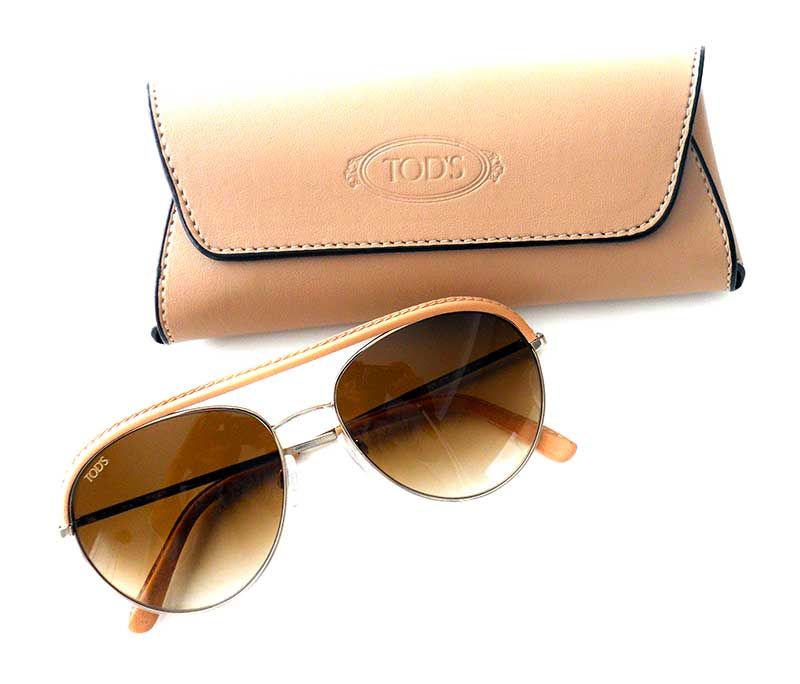 TOD'S Leather Sunglasses LE