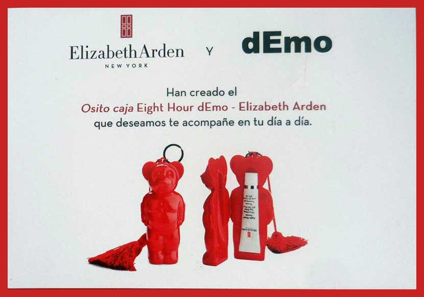 Tarjeta de presentación Elizabeth Arden + dEmo