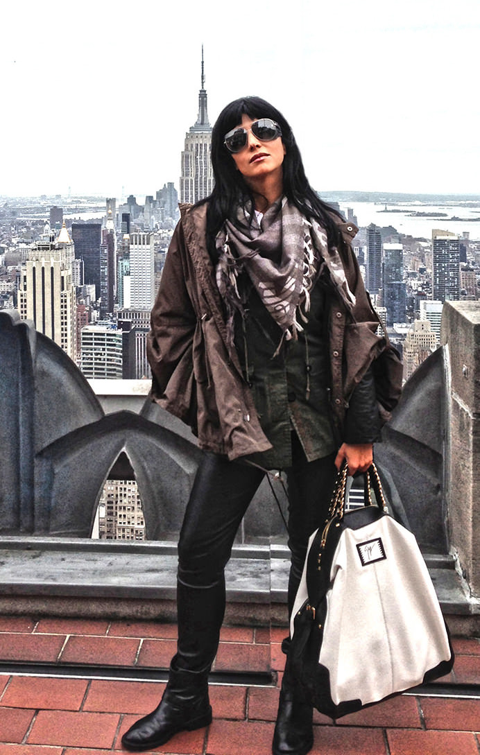 Silvia en Top of the Rock