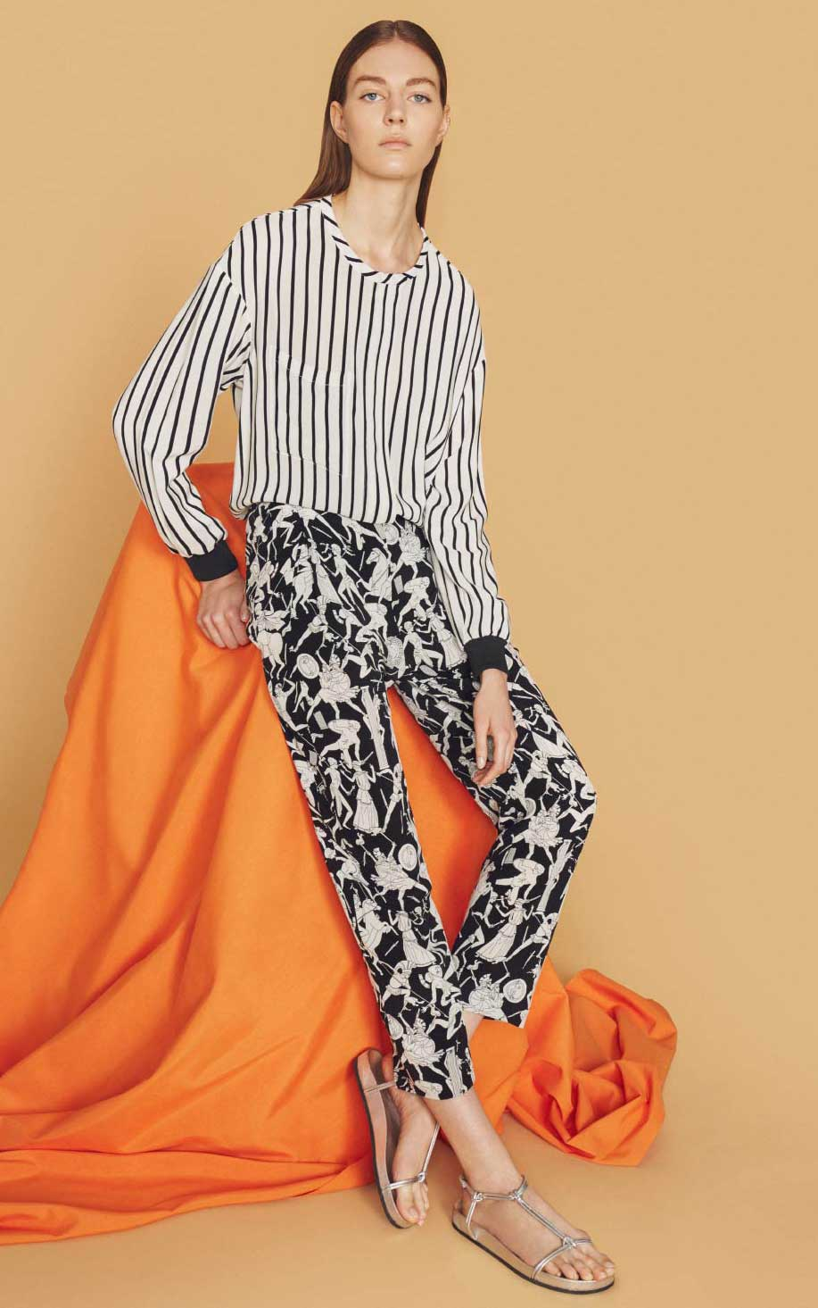 bimba-y.lola-printed-pants