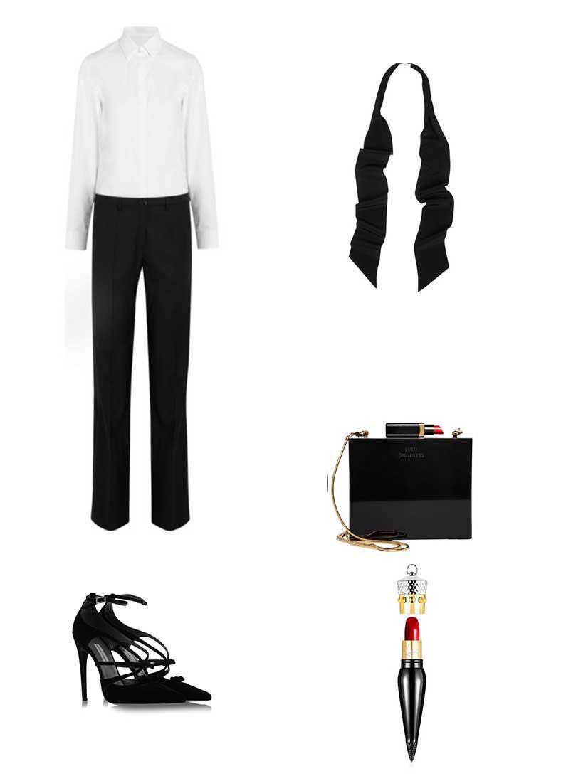 maison-margiela-jumpsuit-louboutin-red-lipstick