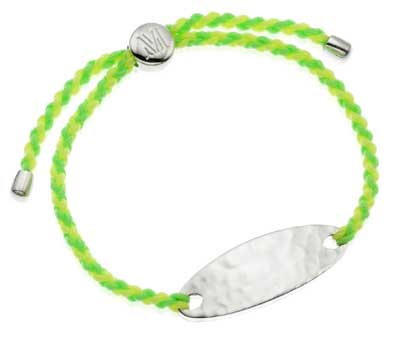 Monica Vinader Bali Friendship Bracelet silver fluor