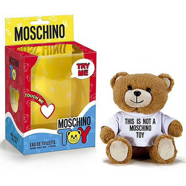 moschino toy packaging
